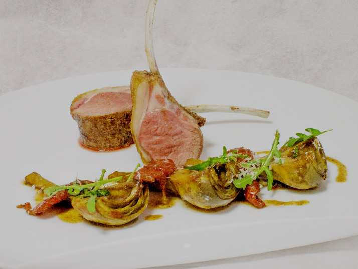 Rack of lamb with mushroom crust rack of lamb with for Cuisine provencale